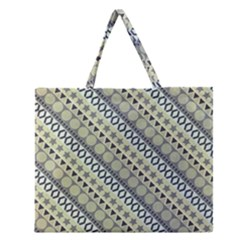 Abstract Seamless Background Pattern Zipper Large Tote Bag