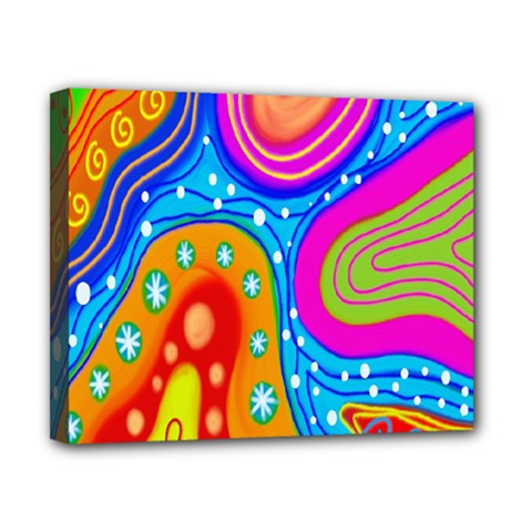 Hand Painted Digital Doodle Abstract Pattern Canvas 10  X 8