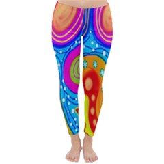 Hand Painted Digital Doodle Abstract Pattern Classic Winter Leggings