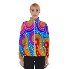 Hand Painted Digital Doodle Abstract Pattern Winterwear