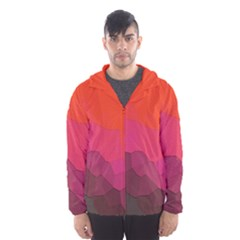 Abstract Elegant Background Pattern Hooded Wind Breaker (Men)