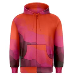 Abstract Elegant Background Pattern Men s Zipper Hoodie