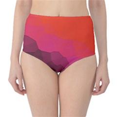 Abstract Elegant Background Pattern High-Waist Bikini Bottoms
