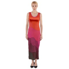 Abstract Elegant Background Pattern Fitted Maxi Dress