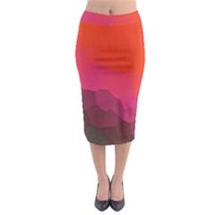 Abstract Elegant Background Pattern Midi Pencil Skirt