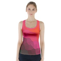 Abstract Elegant Background Pattern Racer Back Sports Top