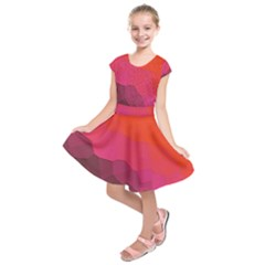 Abstract Elegant Background Pattern Kids  Short Sleeve Dress