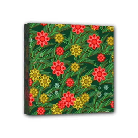 Completely Seamless Tile With Flower Mini Canvas 4  X 4