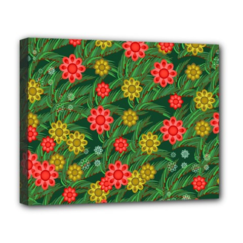 Completely Seamless Tile With Flower Deluxe Canvas 20  x 16