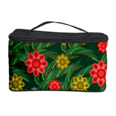Completely Seamless Tile With Flower Cosmetic Storage Case