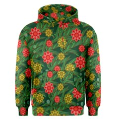 Completely Seamless Tile With Flower Men s Pullover Hoodie