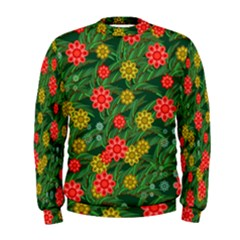 Completely Seamless Tile With Flower Men s Sweatshirt