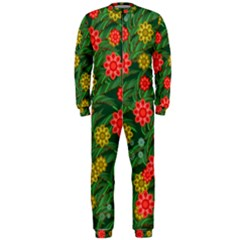 Completely Seamless Tile With Flower OnePiece Jumpsuit (Men)
