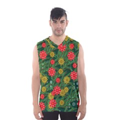 Completely Seamless Tile With Flower Men s Basketball Tank Top
