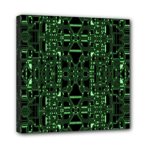 An Overly Large Geometric Representation Of A Circuit Board Mini Canvas 8  X 8