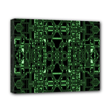 An Overly Large Geometric Representation Of A Circuit Board Canvas 10  x 8