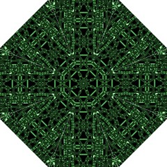 An Overly Large Geometric Representation Of A Circuit Board Folding Umbrellas