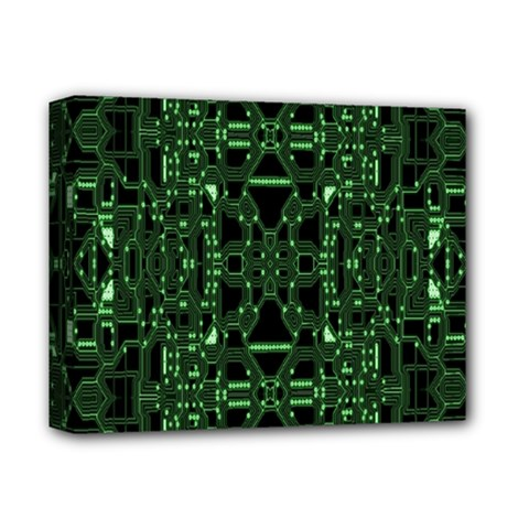 An Overly Large Geometric Representation Of A Circuit Board Deluxe Canvas 14  x 11