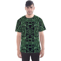 An Overly Large Geometric Representation Of A Circuit Board Men s Sport Mesh Tee