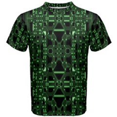 An Overly Large Geometric Representation Of A Circuit Board Men s Cotton Tee