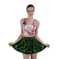 An Overly Large Geometric Representation Of A Circuit Board Mini Skirt