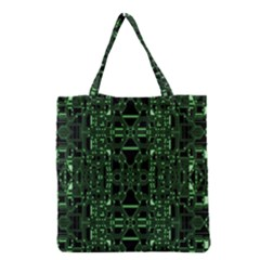 An Overly Large Geometric Representation Of A Circuit Board Grocery Tote Bag