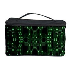 An Overly Large Geometric Representation Of A Circuit Board Cosmetic Storage Case