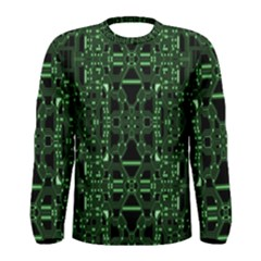 An Overly Large Geometric Representation Of A Circuit Board Men s Long Sleeve Tee