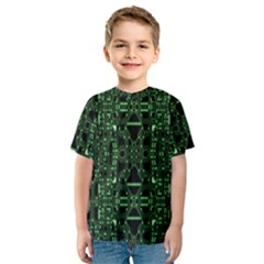 An Overly Large Geometric Representation Of A Circuit Board Kids  Sport Mesh Tee