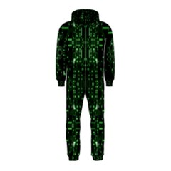 An Overly Large Geometric Representation Of A Circuit Board Hooded Jumpsuit (kids)