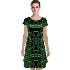 An Overly Large Geometric Representation Of A Circuit Board Cap Sleeve Nightdress