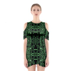 An Overly Large Geometric Representation Of A Circuit Board Shoulder Cutout One Piece