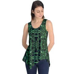 An Overly Large Geometric Representation Of A Circuit Board Sleeveless Tunic