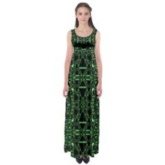 An Overly Large Geometric Representation Of A Circuit Board Empire Waist Maxi Dress