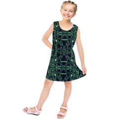 An Overly Large Geometric Representation Of A Circuit Board Kids  Tunic Dress