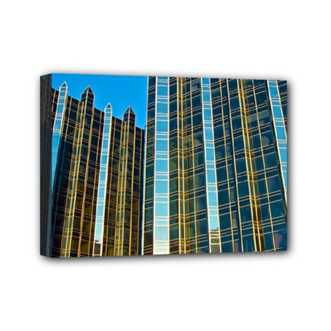 Two Abstract Architectural Patterns Mini Canvas 7  X 5