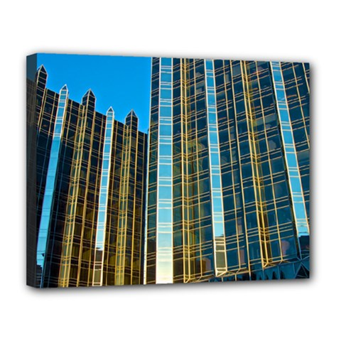 Two Abstract Architectural Patterns Canvas 14  X 11