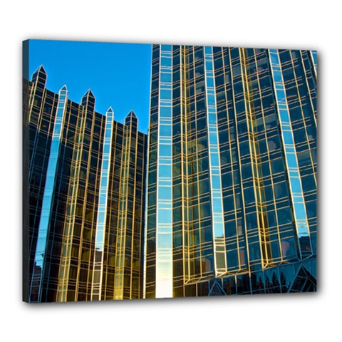 Two Abstract Architectural Patterns Canvas 24  X 20
