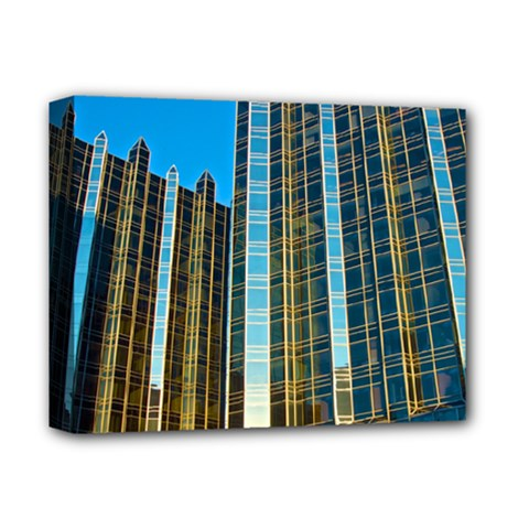 Two Abstract Architectural Patterns Deluxe Canvas 14  x 11