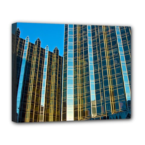 Two Abstract Architectural Patterns Deluxe Canvas 20  x 16