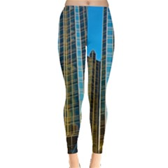 Two Abstract Architectural Patterns Leggings