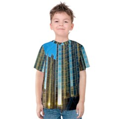 Two Abstract Architectural Patterns Kids  Cotton Tee