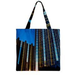 Two Abstract Architectural Patterns Grocery Tote Bag