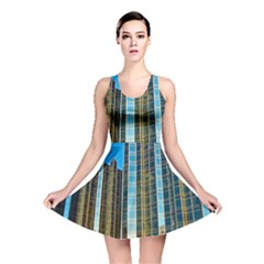 Two Abstract Architectural Patterns Reversible Skater Dress
