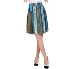 Two Abstract Architectural Patterns A-Line Skirt