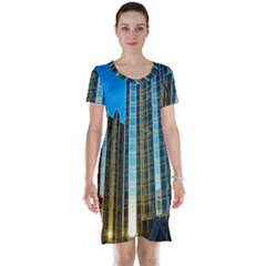 Two Abstract Architectural Patterns Short Sleeve Nightdress