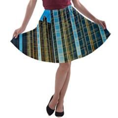 Two Abstract Architectural Patterns A Line Skater Skirt