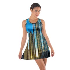 Two Abstract Architectural Patterns Cotton Racerback Dress