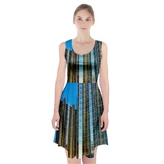Two Abstract Architectural Patterns Racerback Midi Dress