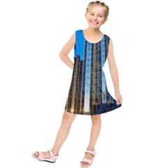 Two Abstract Architectural Patterns Kids  Tunic Dress